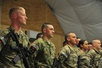 Deployed CTF 4-2 soldiers attend promotion board