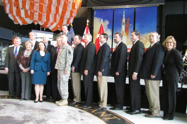 The 2013 board of directors for the Air, Space and Missile Defense Association is introduced during the association's annual meeting.