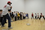 Wade Boggs fields with 8-year-olds