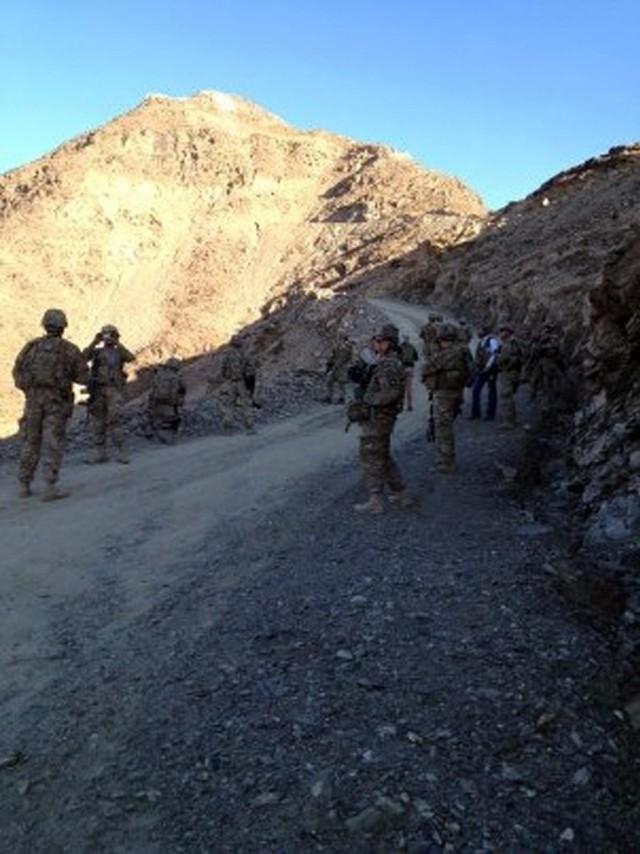 Team building on an Afghan mountainside