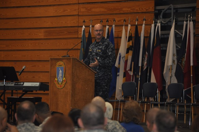 Navy Chaplain (Capt.) Kyle Fauntleroy, commanding officer of the Fort Jackson Naval Chaplaincy School and Center delivers a message about discovering the broken pieces in our lives, making sense of them and moving forward.
