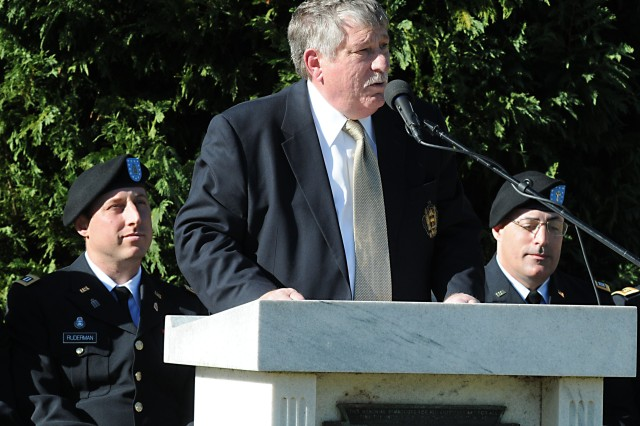 Neil Block, a retired Navy captain from Harris County, Ga., was the guest speaker Sunday at the commemoration of the 70th anniversary of the sinking of the Dorchester. On Feb. 3, 1943, four chaplains of different faiths sacrificed their lives to save others.