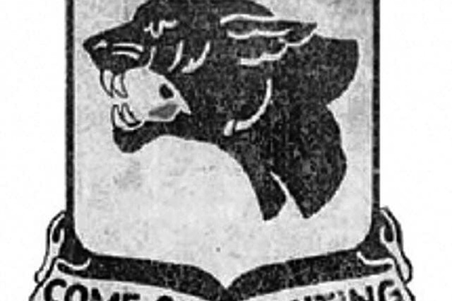 Patch of the U.S. Army's 761st Tank Battalion, the first black armored unit to fight in any war.