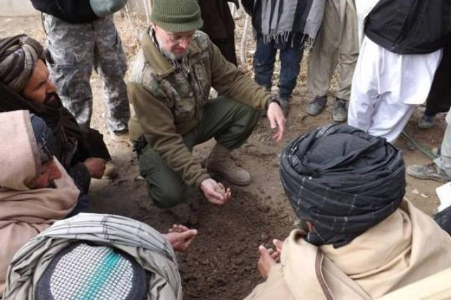Mississippi guard soldiers teach afghan farmers water for Soil ribbon test