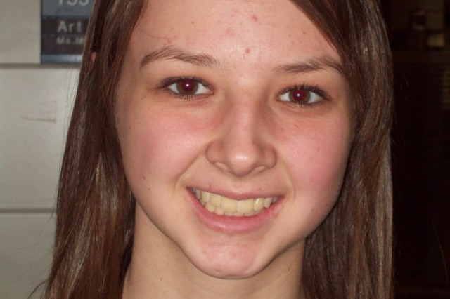 Hohenfels Middle/High School senior Lauren Sink
