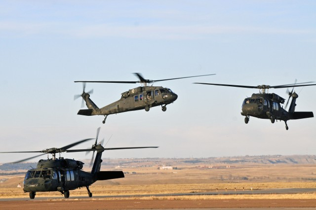 UH-60 Blackhawks arrive at Butts Army Airfield