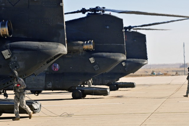 Chinooks arrive at Fort Carson