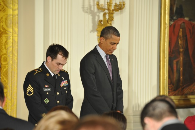 Sgt. Clinton L. Romesha White House Medal of Honor ceremony pictures