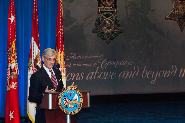 Pentagon's Hall of Heroes Induction for Medal of Honor Recipeint SSG Clinton L. Romesha