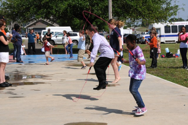 Children take part in jump roping at last year's Children's Festival. Fort Rucker youth can sign up for jump roping and baseball through Feb. 28. as part of the youth sports program.