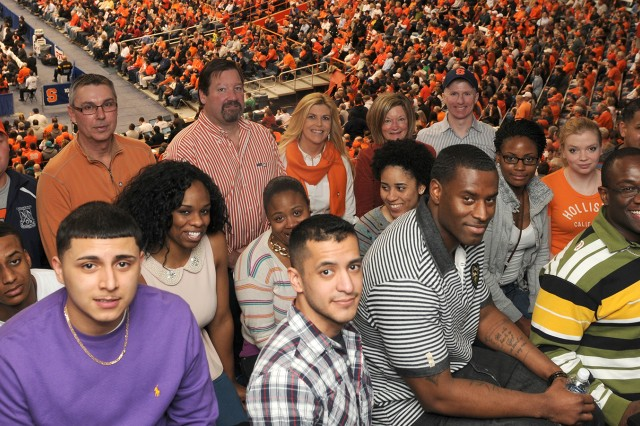 Soldiers attend Syracuse University basketball game