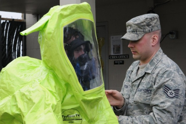 Soldiers Conduct Joint Training With Air Force Hazmat Responders