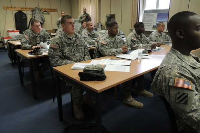Soldiers and NCOs attended classes about standards and discipline during Profession of Arms Week. They also learned about other topics such as wellness and drinking responsibly.