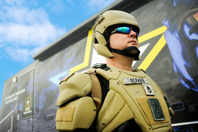Future Soldiers will have plastic electronic sensors embedded in their helmets and uniforms. Research has brought electronics to flexible plastic through the combined efforts of industry, academia and Army scientists.