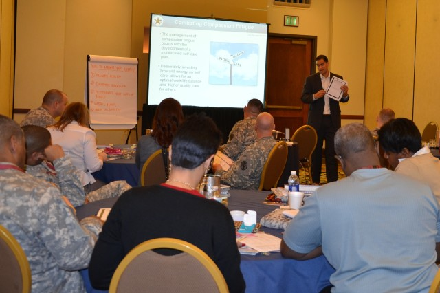 Nurse case managers, first sergeants and commanders from across the Army receive  Performance and Resilience Enhancement Program training Feb. 7 and 8 at the Hilton San Antonio Airport hotel.