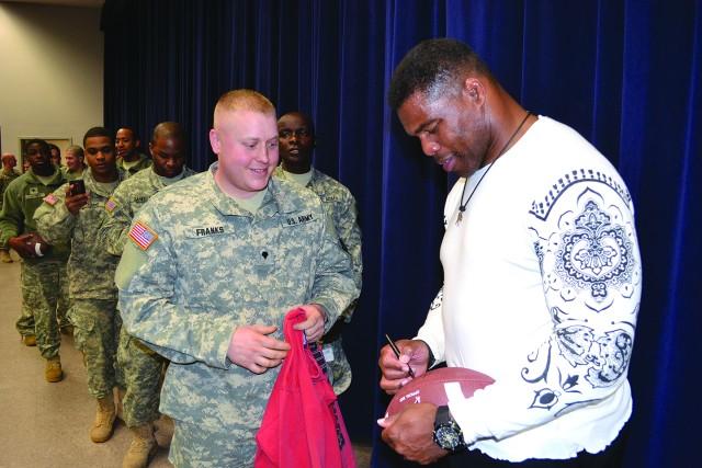 NFL great Herschel Walker visits Fort Drum
