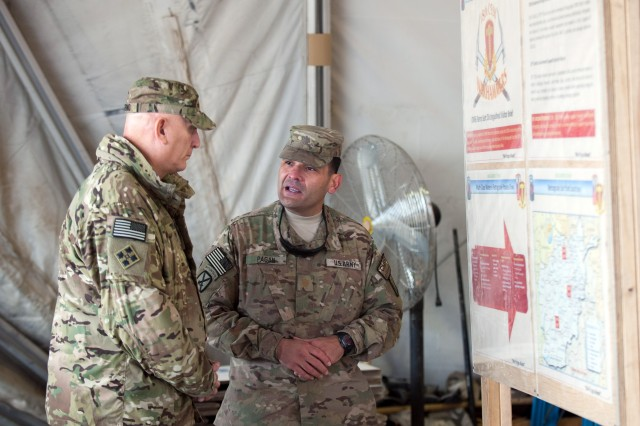 Odierno visits Bagram Retrosort Yard