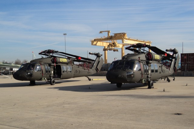 Two UH-60M  Black Hawk helicopters were delivered to Sweden as part of an ongoing Foreign Military Sales case to support the Swedish armed forces. The helicopters depicted are folded for transport in December from Huntsville, Ala., to Linkoping, Sweden.