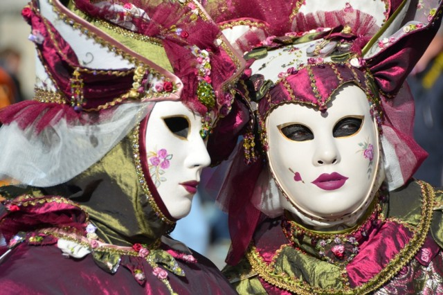 Masqueraders give the Venice Carnevale its unique character.