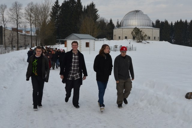 Vicenza High School students visit Asiago with Italian high school students.