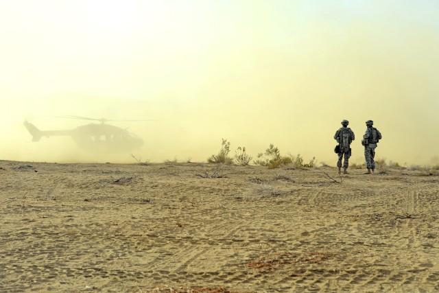 Down in the desert dust