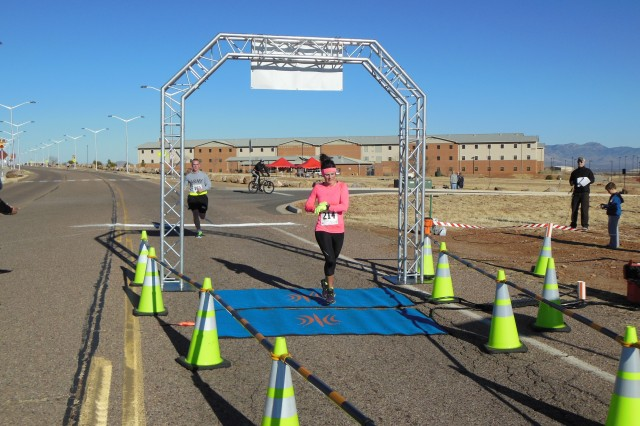The female winner was SFC Drea Pierce, a Platoon Sergeant with F Co, 309th, who came in at 34:38, an average of 6:57 per mile.