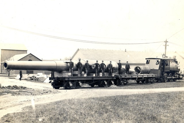 The first 16-inch cannon was completed in 1902 at the Watervliet Arsenal.