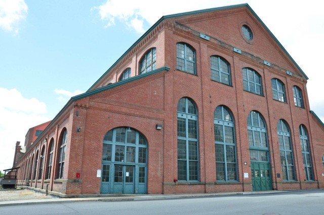 The Historic Big Gun Shop at the Watervliet Arsenal, N.Y.  In this building in the late 1800s is where the Arsenal transformed from a wagon and saddle manufacturer into a cannon factory.