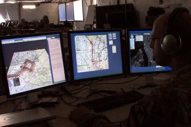 Specialized maps and imagery work with Command Post of the Future, the Army's primary mission command information system.