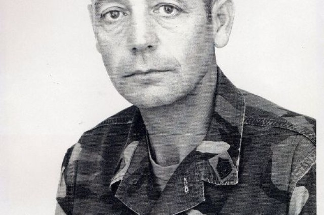 Retired Command Sgt. Maj. Fred Davenport is shown here in his 1989 official 1st Infantry Division portrait.