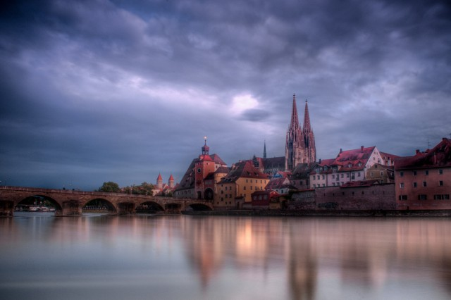 """Staff Sgt. Pablo Piedra of Grafenwoehr, Germany, wins the active duty division nature and landscapes category of the 2012 Army Digital Photography Contest with """"City of Regensburg."""""""