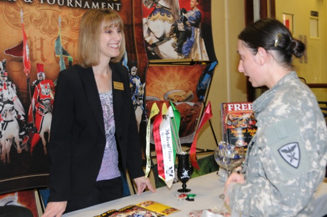 Kathy Isaacs, Medieval Times vendor, talks with Jamie Hendzel about what the venue has to offer at last year's Travel Extravaganza. This year's event will be at The Landing, March 6 from 11 a.m. to 2 p.m.