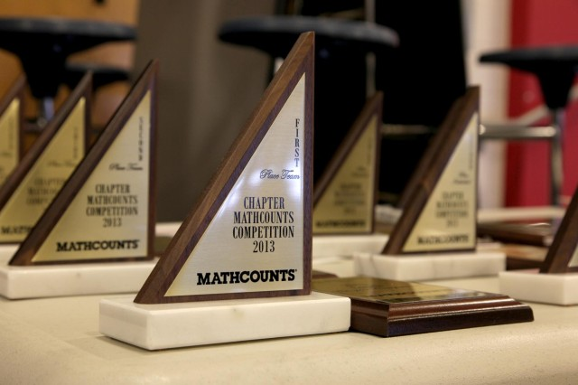Top mathletes, awarded plaques to recognize their regional win, will proceed to compete with other regional winners in the state competition. (USACE Photo by Alicia Embrey)