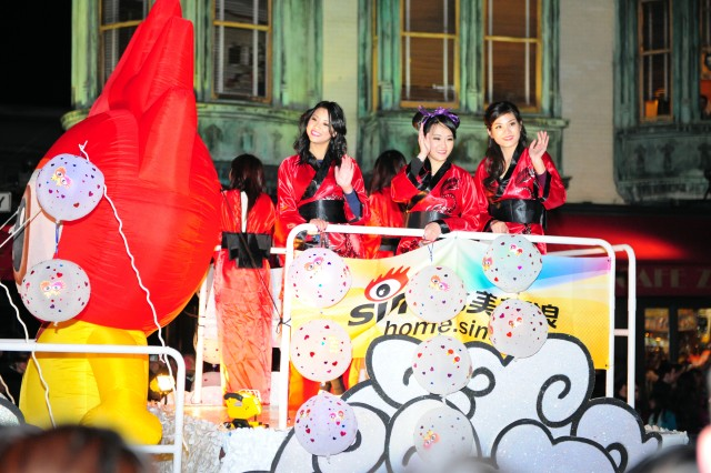"PRESIDIO OF MONTEREY, Calif. "" Beauty queens chosen as part of the week long Chinese New Year festival wave to spectators during the Chinese New Year Parade in San Francisco's Chinatown on Feb. 23."
