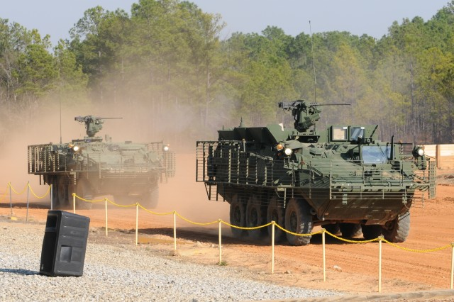 ANAD employees view live-fire Stryker exercise at Fort Benning