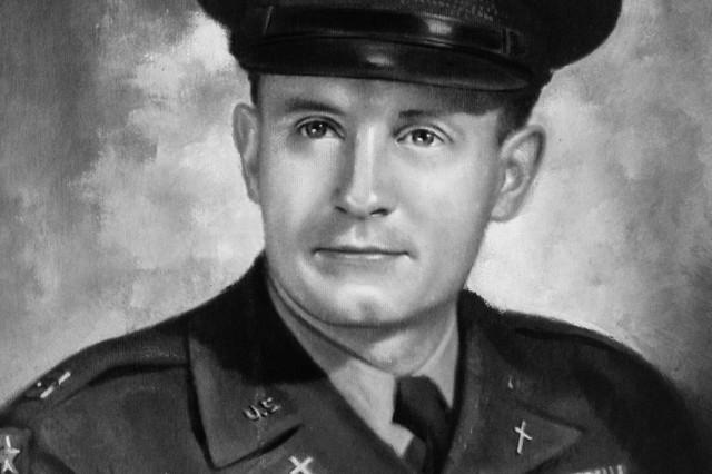 Portrait of Chaplain (Capt.) Emil Kapaun, post World War II.  Kapaun was promoted to Captain on January 3, 1946.