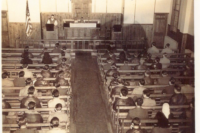 Kapaun celebrates Mass in 1942