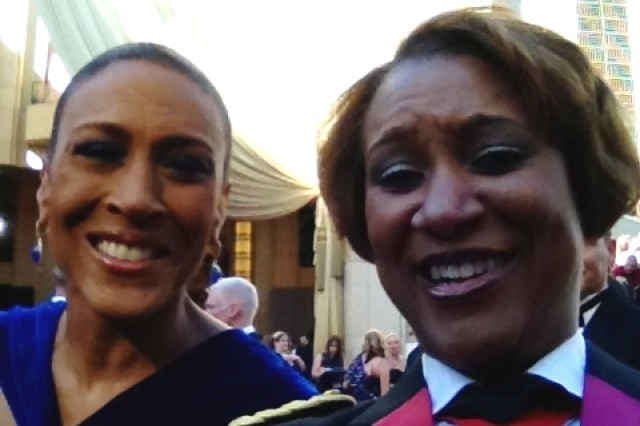 Robin Roberts and Col. Marth Brooks