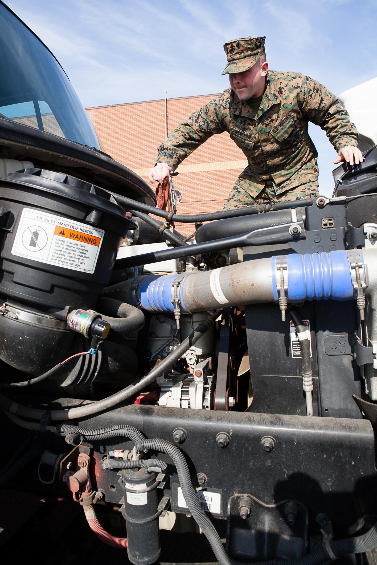 Henderson Hall Motor Transport Keeps Headquarters Marine