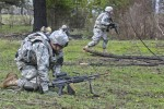 Field artillerymen learn infantry skills in squad live fire exercise