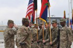 101st Airborne Division command team salute colors