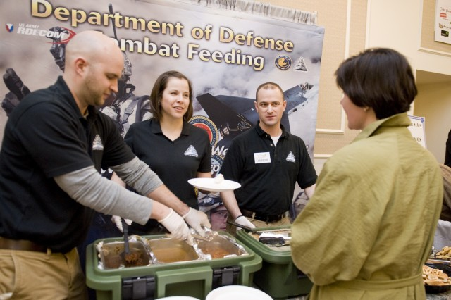 "Massachusetts State Rep. Carolyn Dykema was eager to taste the operational rations that representatives from the Department of Defense's Combat Feeding Directorate had to offer at the ""Taste of Metrowest."""
