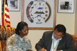 Acoma Governor signs agreement with Corps