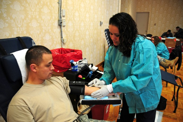 Soldiers support deployed service members with monthly blood drives