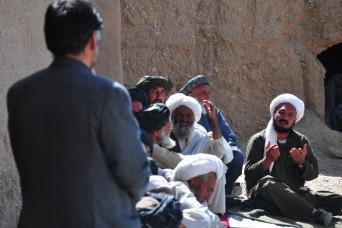 Kandahar provincial and district officials visited the Gorak district of Kandahar province for a health shura and humanitarian aid distribution, Mar. 6. The Kandahar Provincial Reconstruction Team (KPRT), a civilian-military team, and the World Food...