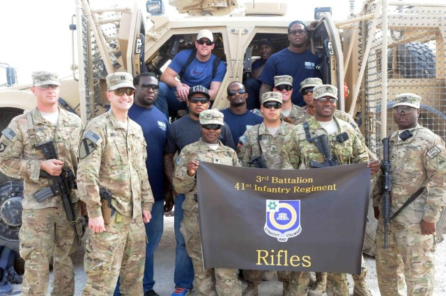 NFL players visit Regional Command-South