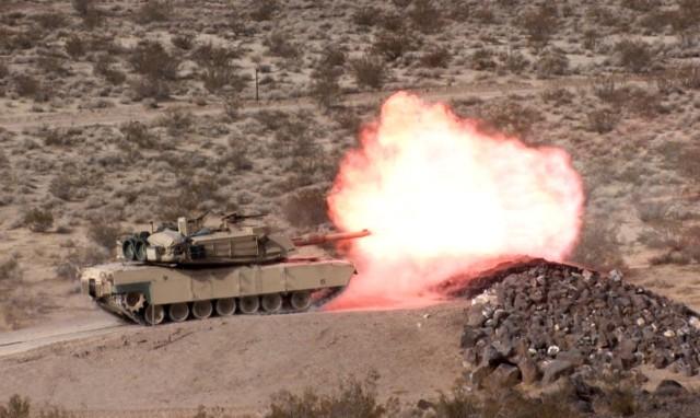 M1A1 fires