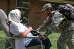 Fort Benning junior enlisted soldiers aid senior citizens during Vibrant Response