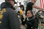 Female diver leaves her mark in history