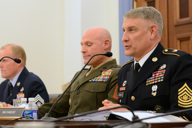 "Sgt. Maj. of the Army Raymond Chandler tells Congress the fiscal uncertainty the country is facing has ""grave consequences"" for Soldiers, civilians and military families."